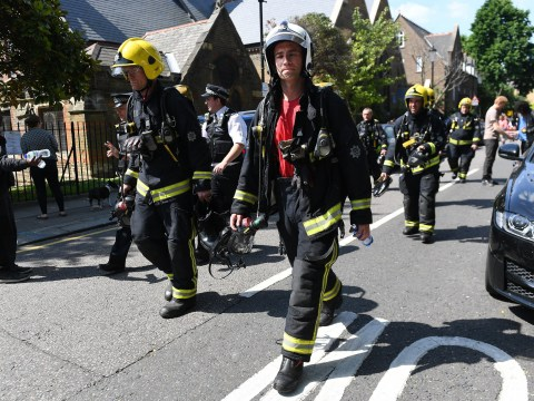 Fire crews will be at Grenfell Tower all through the night