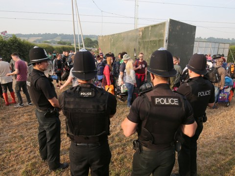 Armed police protecting Glastonbury Festival goers after terror attacks