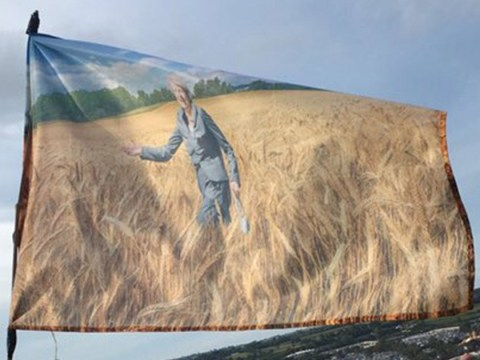 Theresa May has been spotted running through fields of wheat at Glastonbury