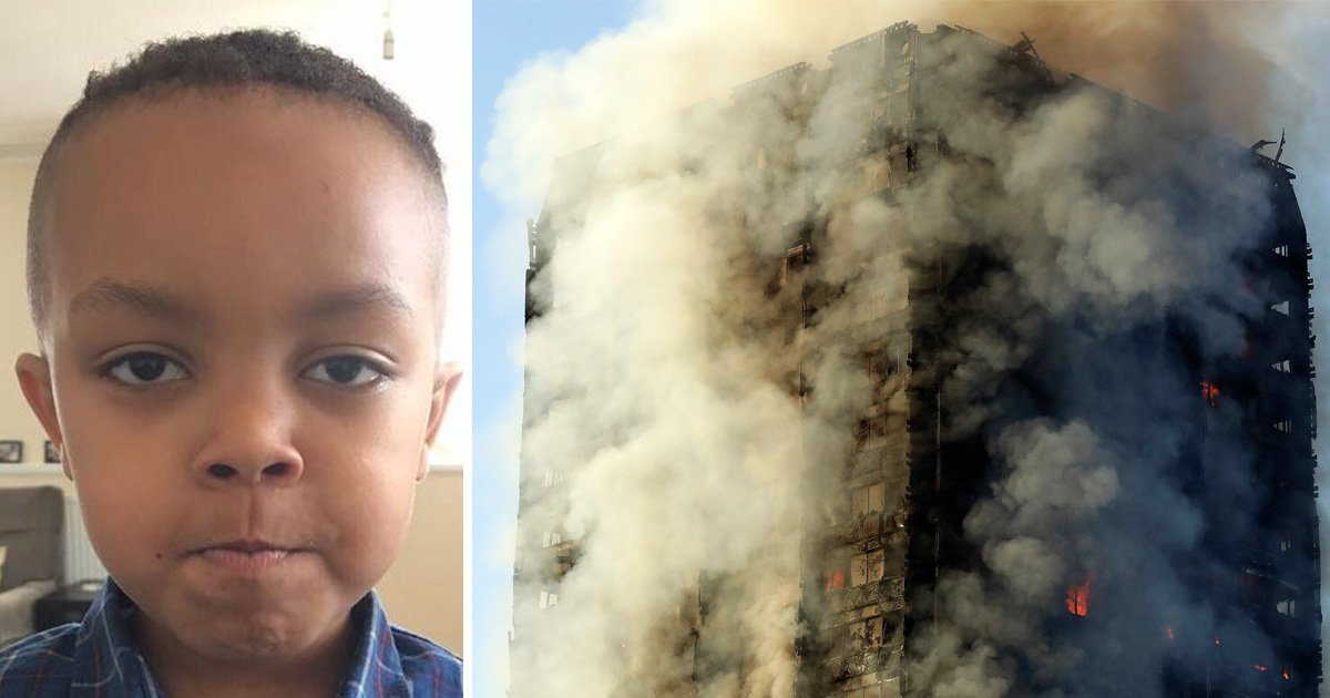 One of the youngest victims of Grenfell Tower fire died after choking on fumes