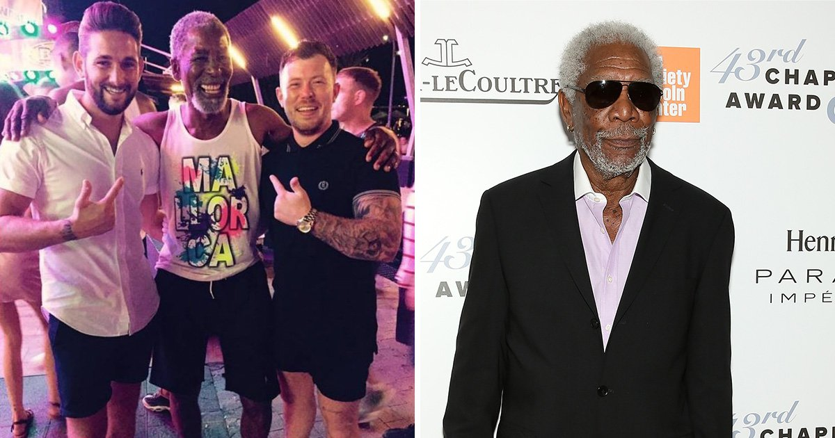 Meet Uncle Norman, the spitting image of Morgan Freeman who enjoys getting free drinks on holiday