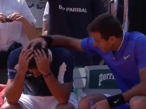 Juan Martin del Potro shows true class by comforting Nicolas Almagro after French Open injury