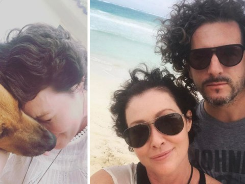 Shannen Doherty proudly shows off growing hair on holiday two months after going into remission