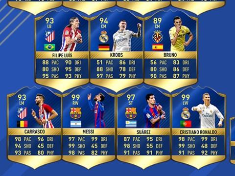 Three Atletico Madrid players make FIFA 17's La Liga Team of the Season starting XI – but not Antoine Griezmann