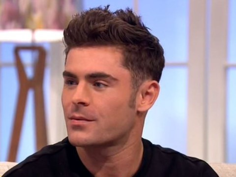 Baywatch star Zac Efron gets all bashful when Rochelle Humes asks about his muscles