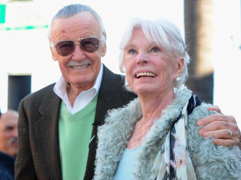 Stan Lee pays tribute to his late wife Joan during Hollywood Boulevard handprint ceremony