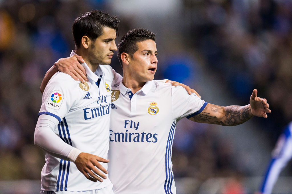 James Rodriguez tells Chelsea fans what to expect from Alvaro Morata ahead of Bayern Munich friendly