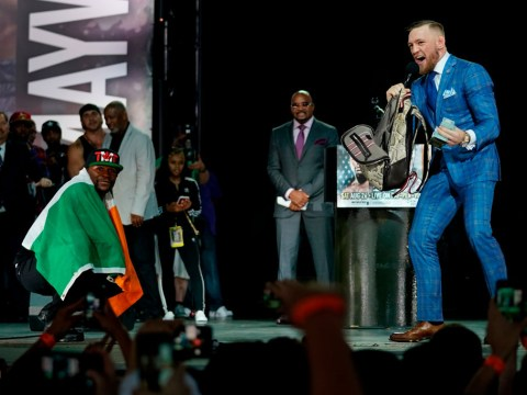 Floyd Mayweather scores himself two rounds up after fiery press conferences with Conor McGregor