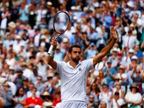 Marin Cilic reacts to reaching first Wimbledon final