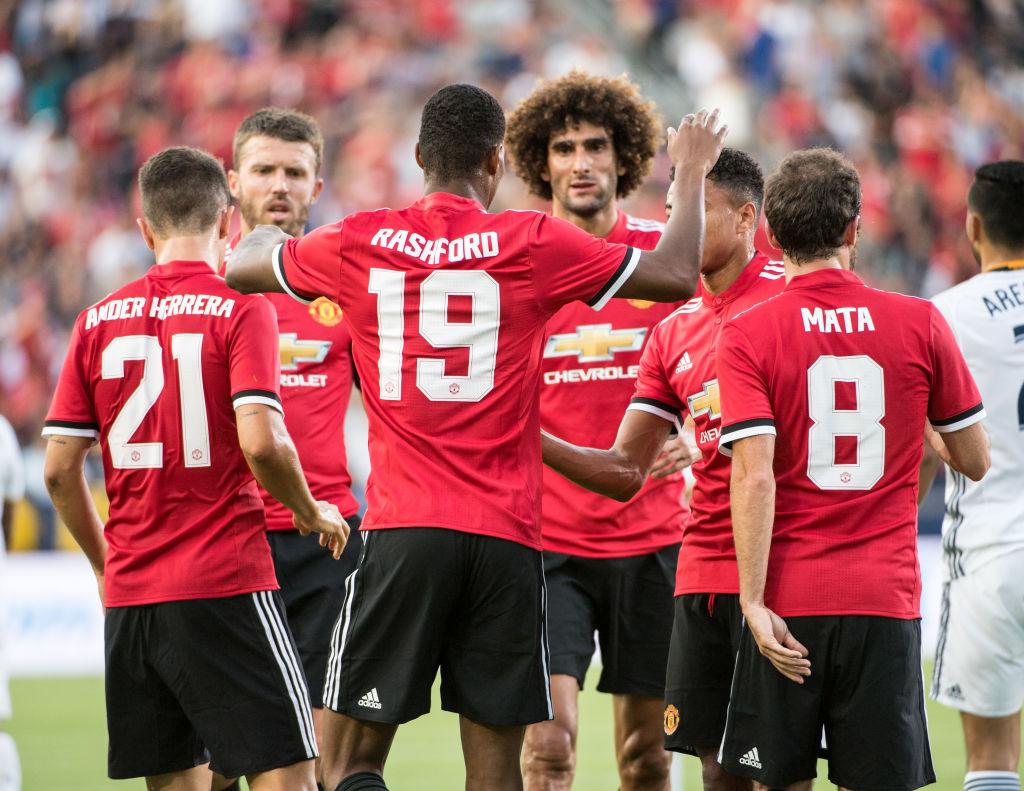 Marcus Rashford sends message on Romelu Lukaku debut as Man Utd beat LA Galaxy 5-2