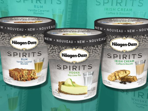 Haagen-Dazs has released a line of boozy ice cream