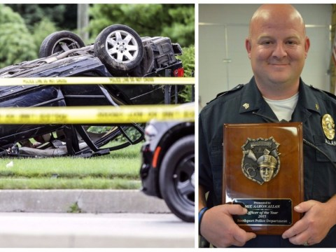 Police officer shot dead by person he was trying to help after car crash