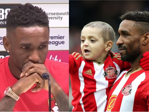 Jermain Defoe breaks down in tears during emotional Bradley Lowery tribute