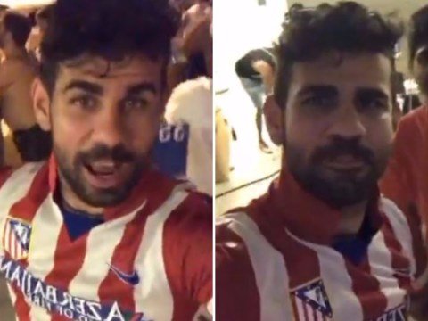 Diego Costa parties in Atletico Madrid shirt and throws shade at Antonio Conte