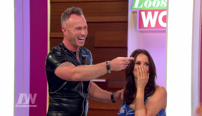 Ola Jordan gets revenge on husband James by making him wear tight leather outfit after saying he prefers Ola with make-up