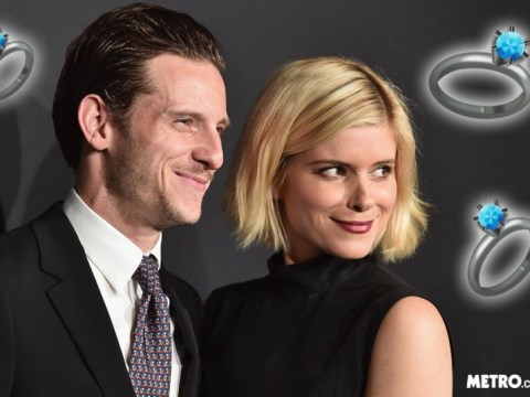 Kate Mara and Jamie Bell become 'Mr and Mrs B' as the couple tie the knot