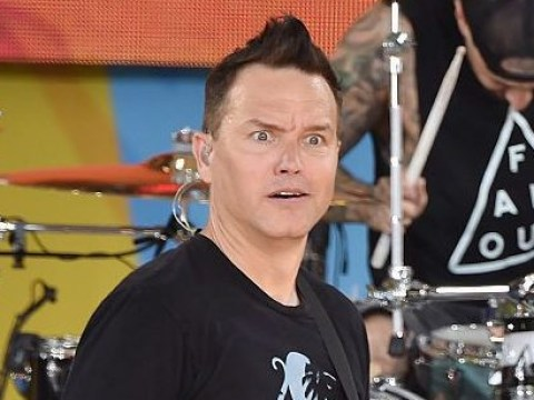 Blink 182 fans wearing Blink 182 merch fail to recognise bassist Mark Hoppus when he speaks to them