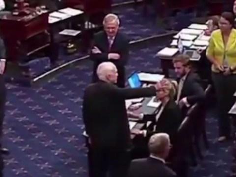 Dramatic moment John McCain swings Obamacare repeal vote