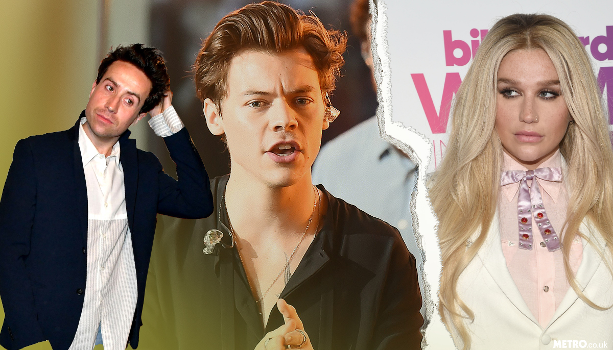 Kesha won't let Nick Grimshaw forget the humilating time he tried to set her up with Harry Styles