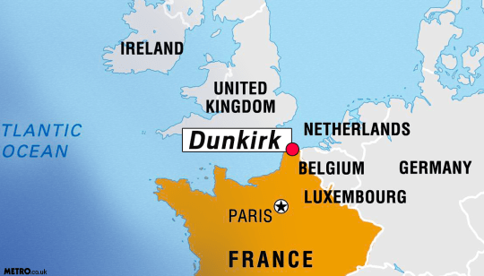Map Of France Dunkirk.Where Is Dunkirk The History Behind Christopher Nolan S New Movie