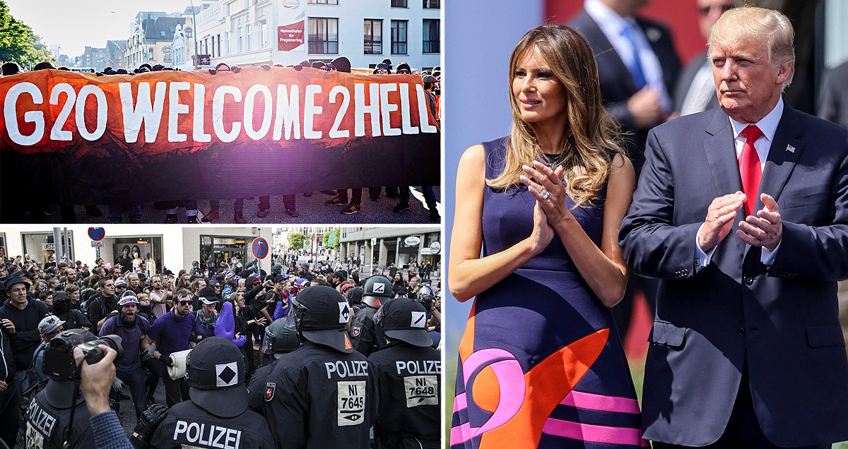 Melania Trump blocked from joining leaders' partners at G20 due to huge protest