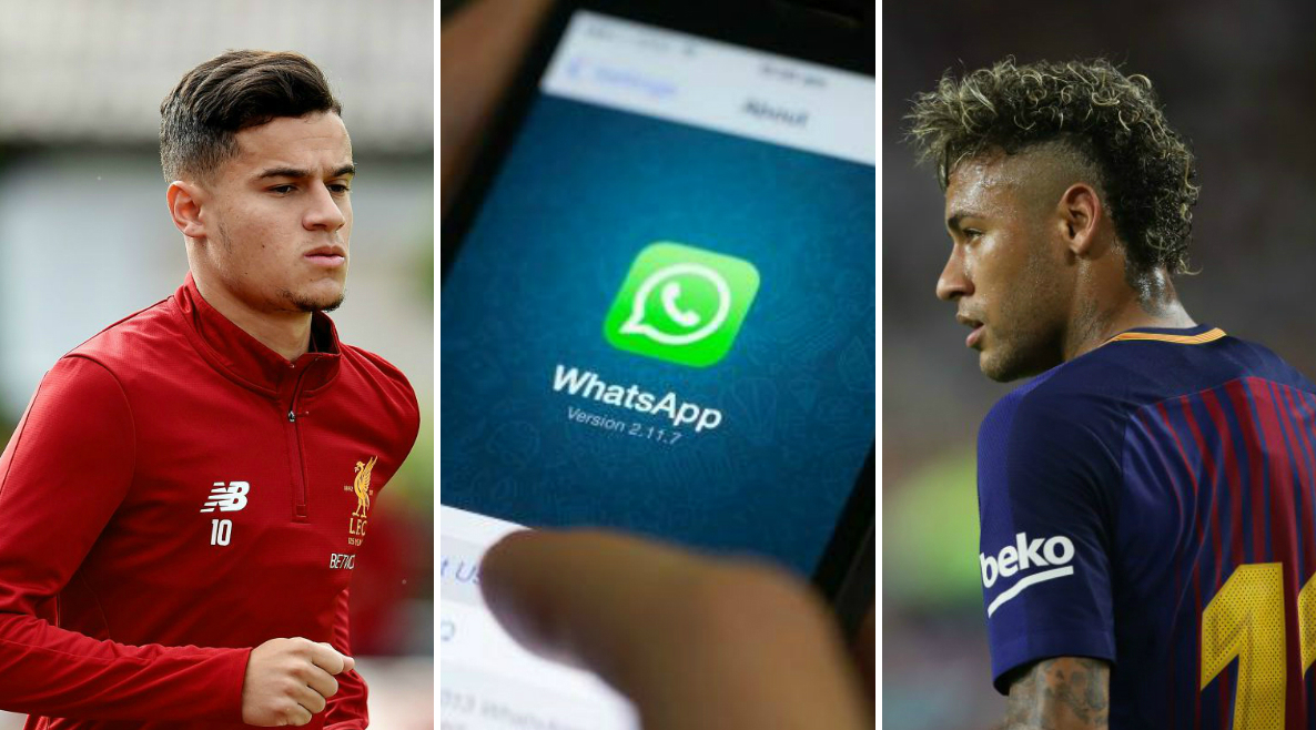 Neymar bombards Philippe Coutinho with WhatsApp messages to get him to leave Liverpool