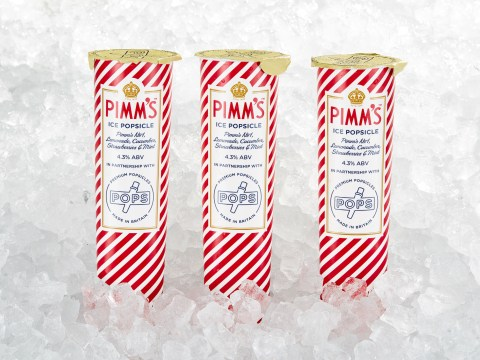 Get your tongues ready, for you can now get Pimm's popsicles