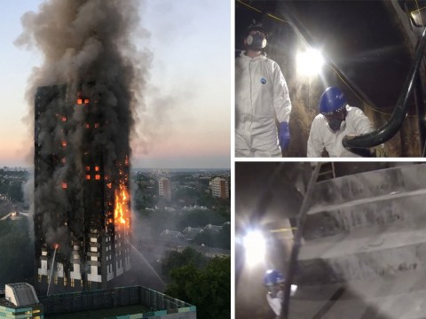 New video from inside Grenfell Tower shows haunting remains of building