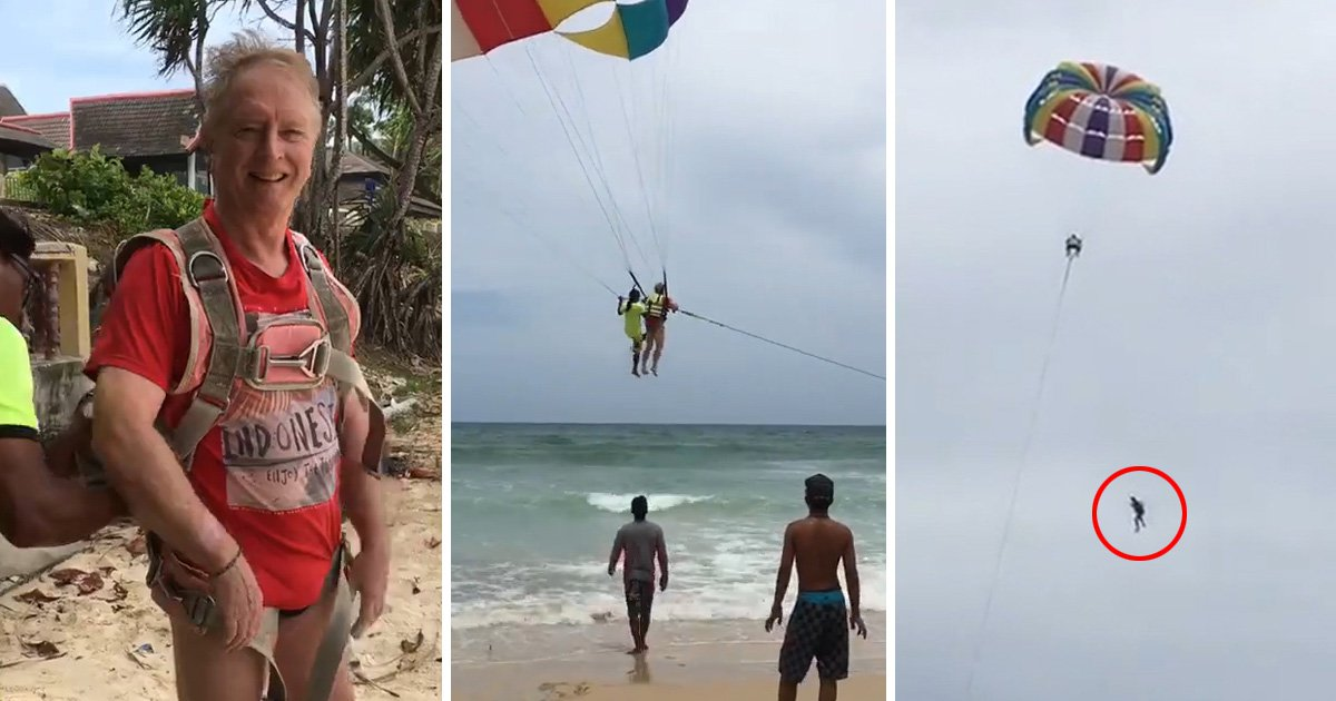 Tourist Roger Hussey dies in parasailing accident in Phuket