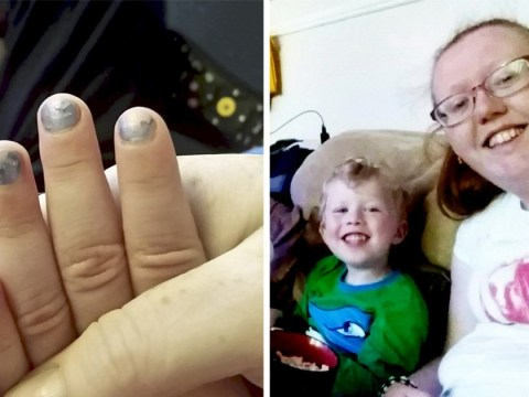 Mum sparks gender debate after posting picture of son, 4, wearing nail polish
