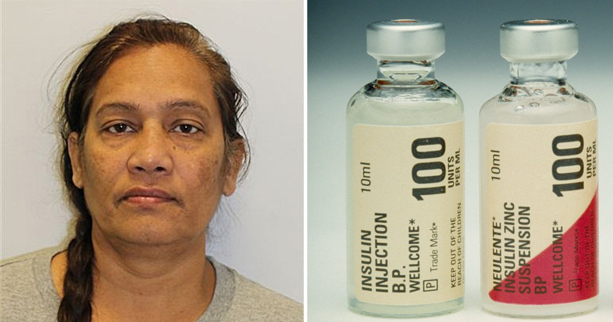 Woman poisoned mother with insulin and smothered her to death