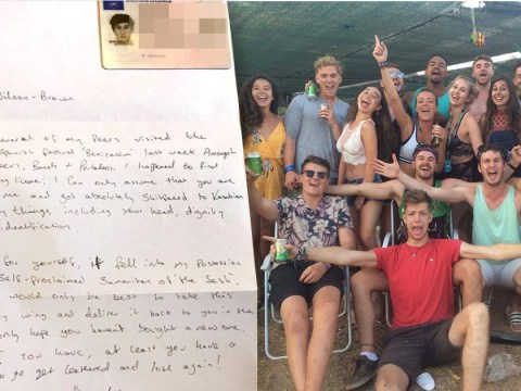 Man returns ID to guy who lost it while asleep on a beach with a brilliant letter