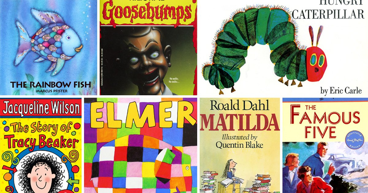 10 books all 90s kids read at school