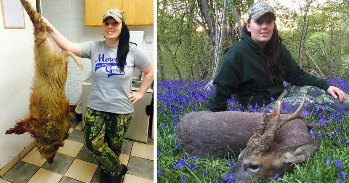 Terrifying mum gives up buying meat from supermarkets to hunt wild animals
