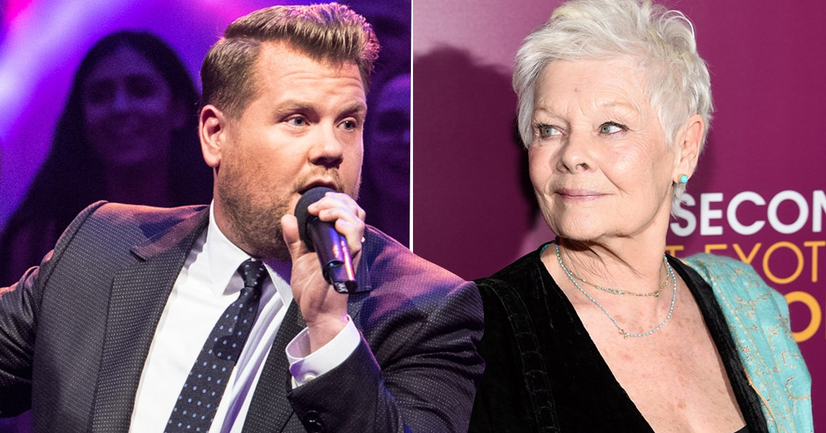 James Corden wants to take on Dame Judi Dench in a rap battle and we are here so for it