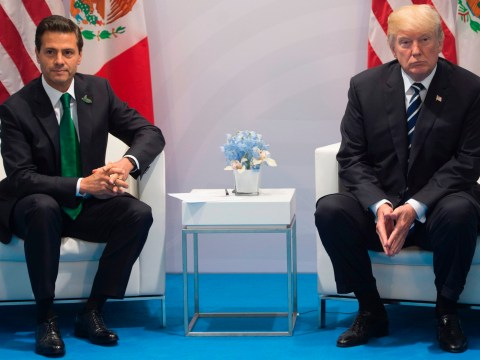 Trump demanding Mexico pay for wall in front of president is most awkward G20 video yet