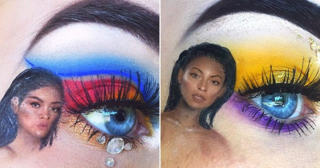 15-year-old makeup artist incorporates tiny celebrities into