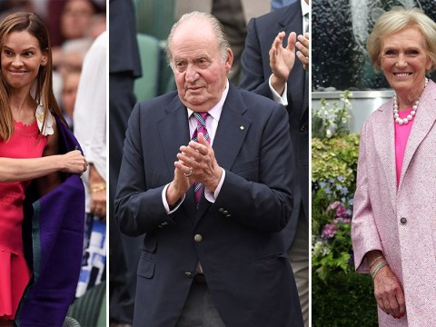 Mary Berry, Hilary Swank and other celebrities spotted at Wimbledon women's final