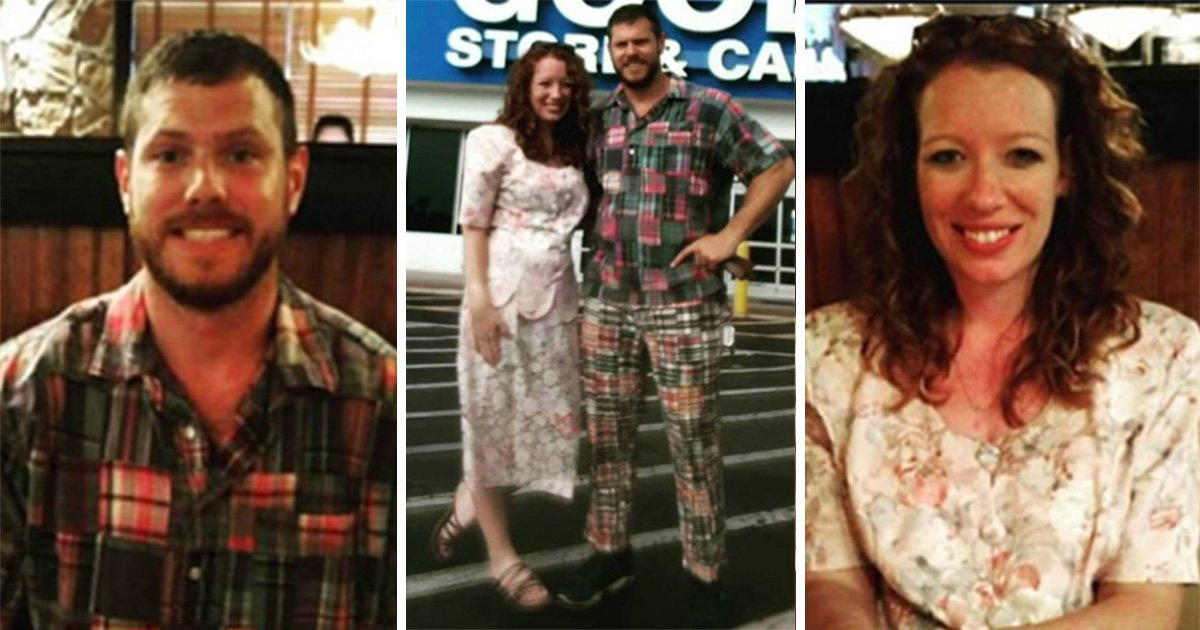 Couple pick out outfits and names for each other for their 'Goodwill date night'