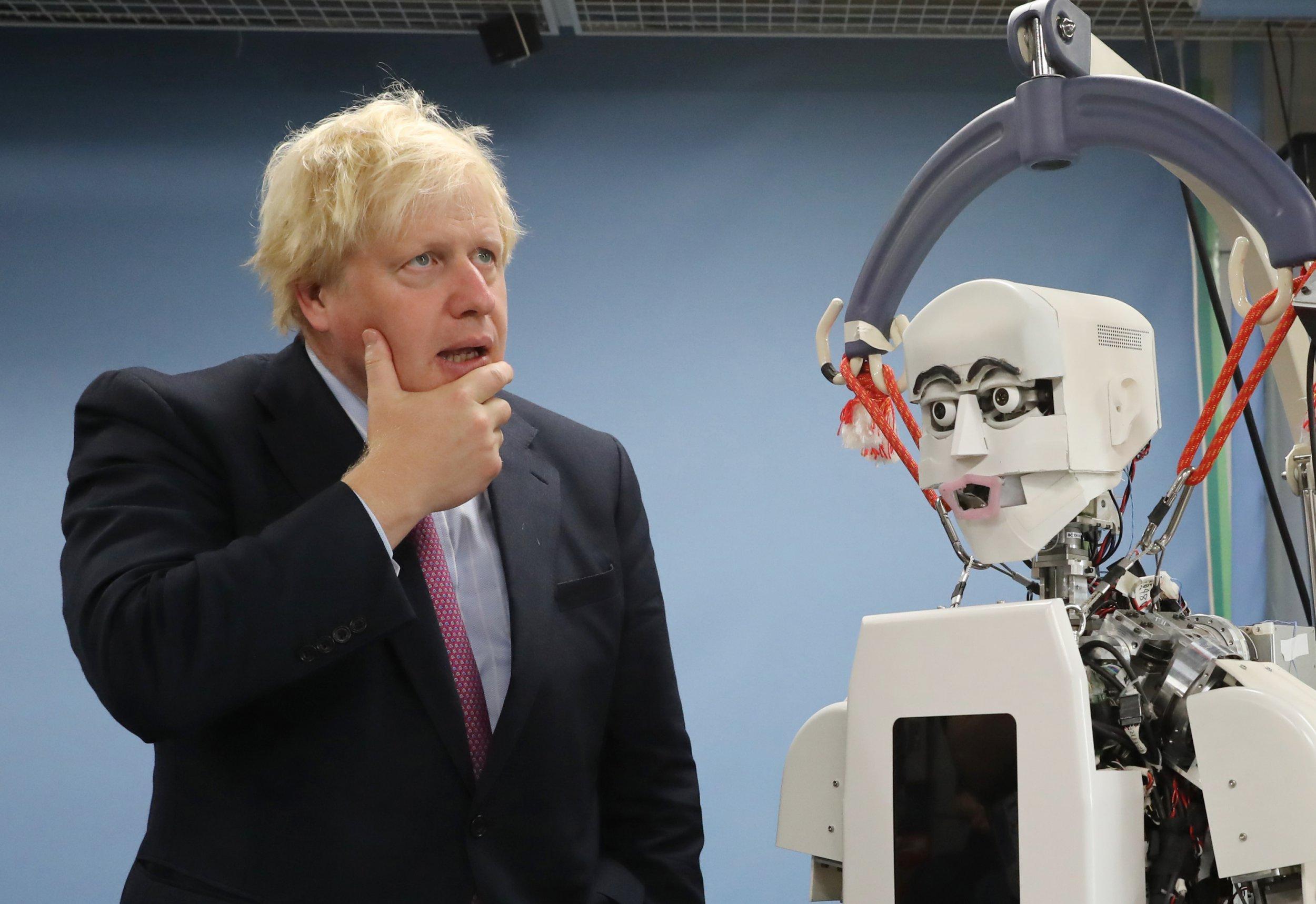 Boris Johnson meets 'humanoid robot' in Japan