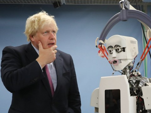 Boris Johnson meets 'humanoid robot' in Japan