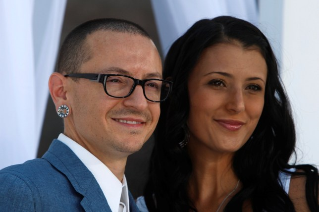 Chester Bennington and wife