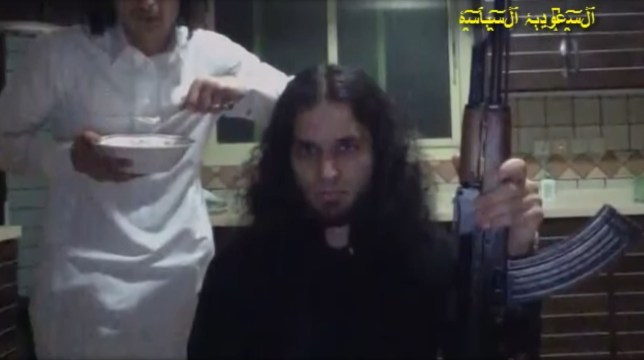 fb39ef3b6b The prince arrested posing with a gun (Picture: Youtube/ Saudi Arabia  Politics)