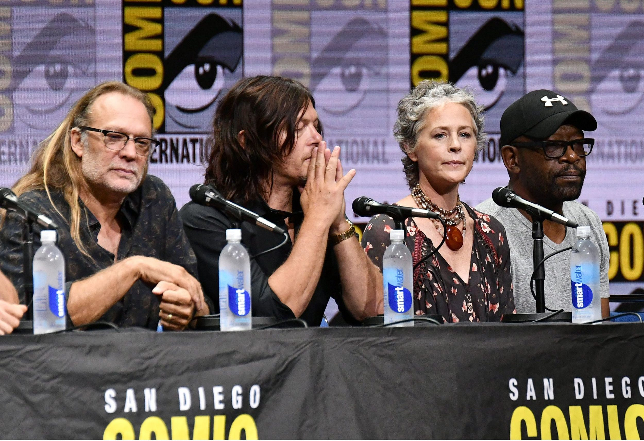 The Walking Dead showrunner pays tribute to stuntman John Bernecker at San Diego Comic-Con