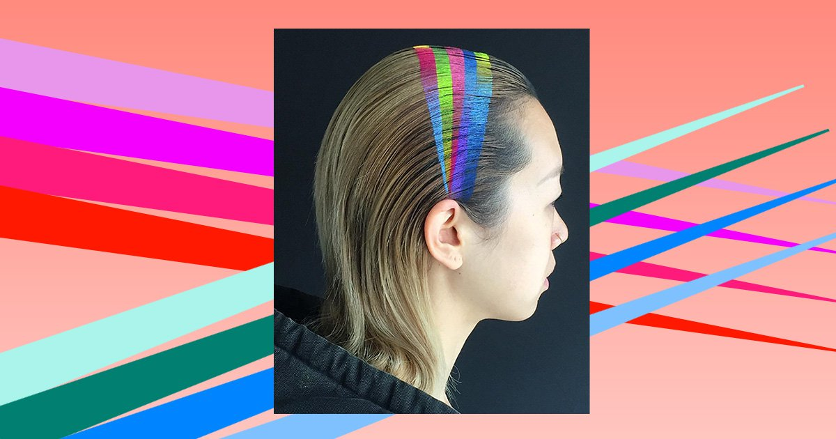 Rainbow hair bands are yet another colourful hair trend