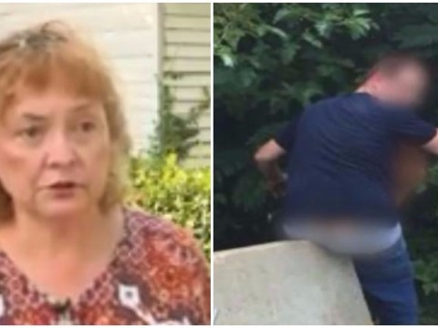 Woman catches couple having shameless sex in her backyard in broad daylight