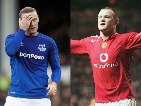 Wayne Rooney's European debut with Everton wasn't quite like his one at Man Utd