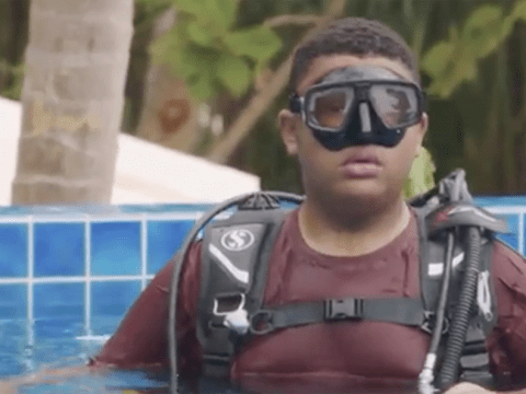 Katie Price overjoyed as disabled son Harvey goes scuba diving on holiday