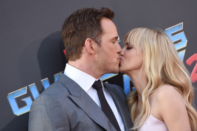 Actors Chris Pratt and Anna Faris arrive at the premiere of Disney and Marvel's 'Guardians of the Galaxy Vol 2