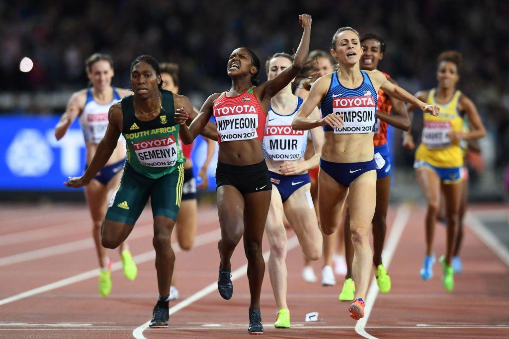 Laura Muir beaten to 1,500m medal by Caster Semenya in World Athletics Championships